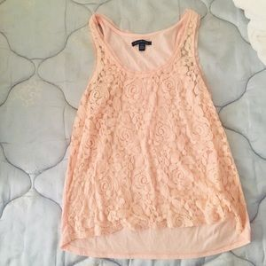 Light Pink Lace American Eagle Top